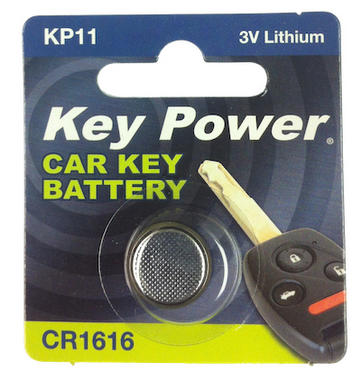 Key Power CR1616 Car Alarm Fob Battery Replacement Long Life Single Thumbnail 2