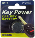 Key Power CR2016 Car Alarm Fob Battery Replacement Long Life Single