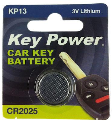 Key Power CR2025 Car Alarm Fob Battery Replacement Long Life Single