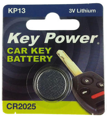Key Power CR2025 Car Alarm Fob Battery Replacement Long Life Single Thumbnail 1