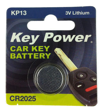 Key Power CR2025 Car Alarm Fob Battery Replacement Long Life Single Thumbnail 2