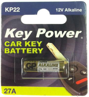 Key Power 27A Car Alarm Fob Battery Replacement Long Life Single
