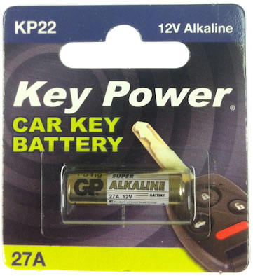 Key Power 27A Car Alarm Fob Battery Replacement Long Life Single