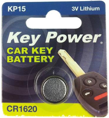 Key Power CR1620 Car Alarm Fob Battery Replacement Long Life Single