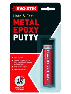 Evo-Stick 320123 Metal Epoxy Hard Metal Putty 50G Thumbnail 1