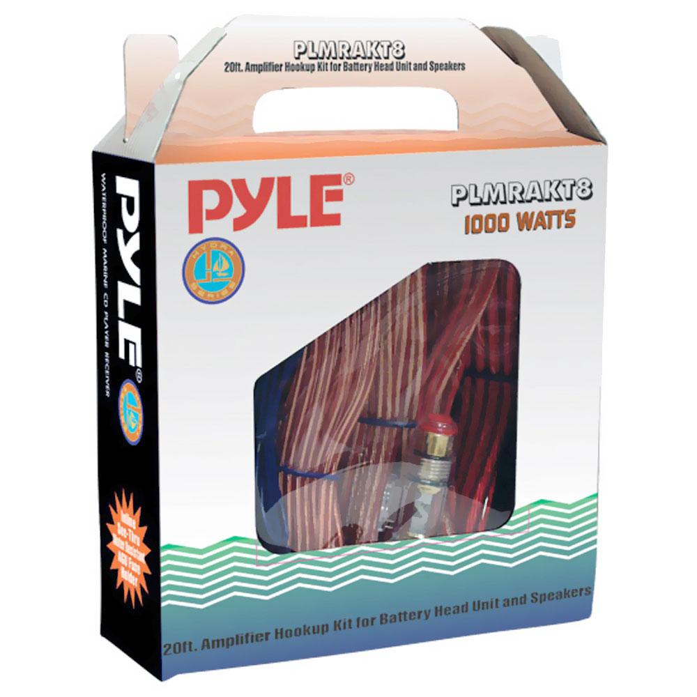 Pyle 1000W Boat Marine Outdoor Grade Amp Amplifier Wiring Kit 8 AWG Gauge
