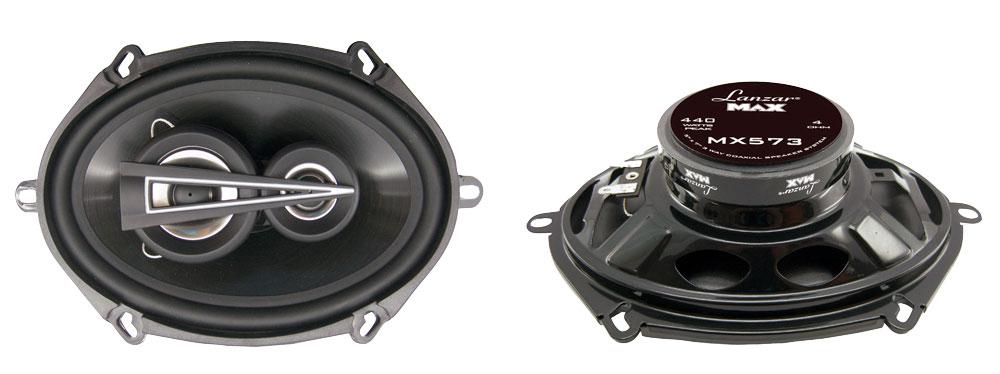 "Lanzar Max 5x7"" Coaxial 3 Way Pair Of Car Door Shelf Speakers 880w Ford Mazda"