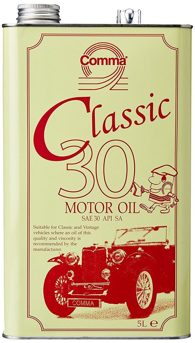 Comma CLA305L Classic SAE30 Motor Engine Oil 5 Litres