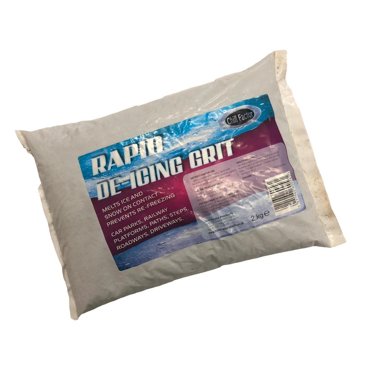 Rock Salt Ice Snow Fast Acting Melting Chill Factor Grit 2kg Kilo Bag