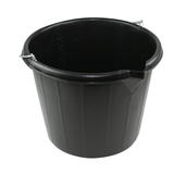 3 Gallon Black Durable Wash Bucket with Handle Car Cleaning Detailing General Use