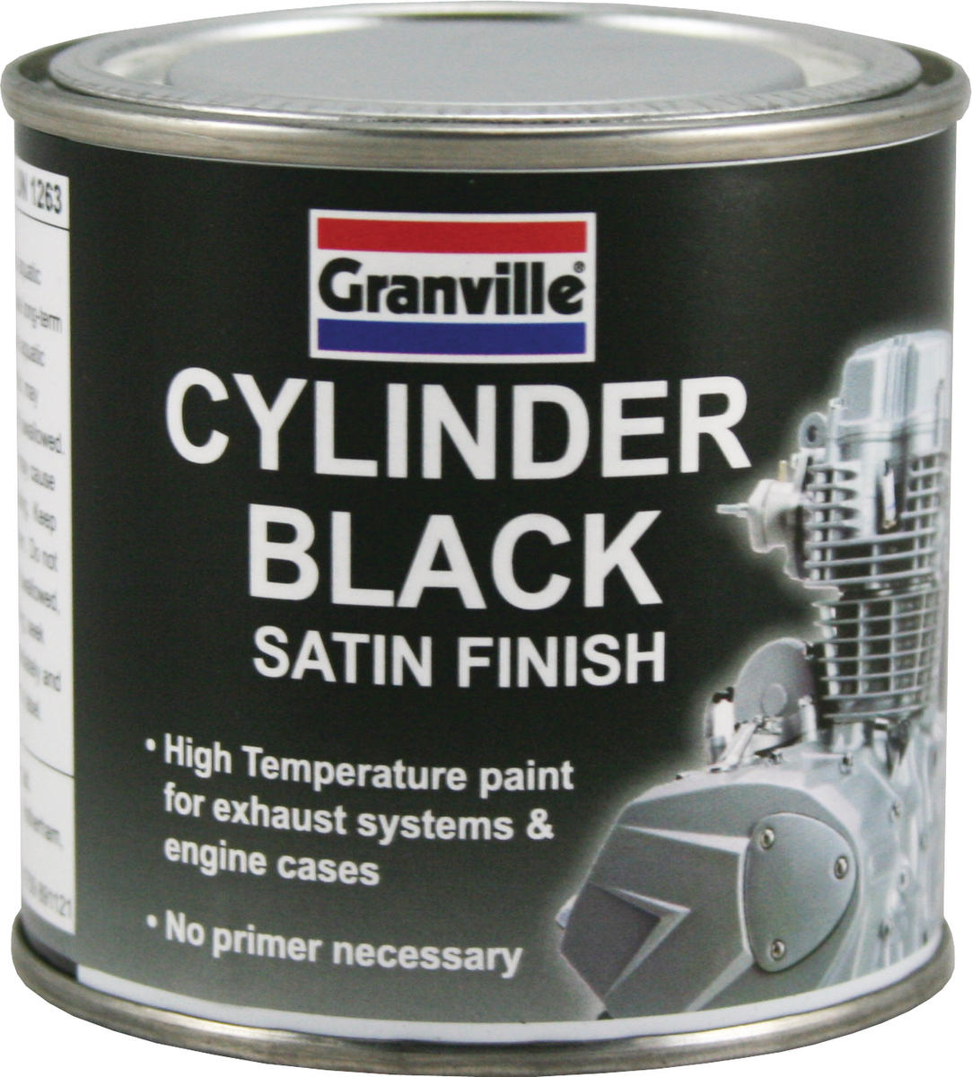 GRANVILLE 0246 Black Satin Cylinder Brush On Paint 100ml