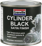 GRANVILLE 0246 Black Satin Cylinder Brush On Paint 100ml