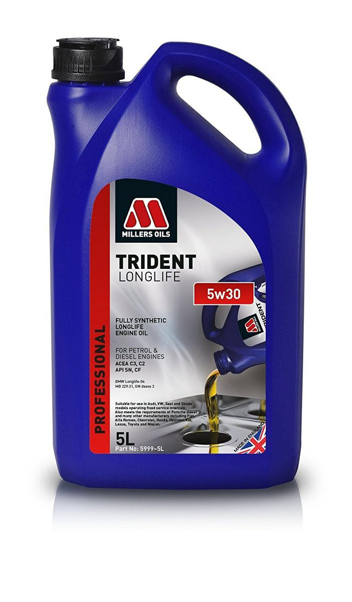 Millers MIL5999GO Longlife 5W-30 Fully Synthetic Car Engine 5 Litre Oil