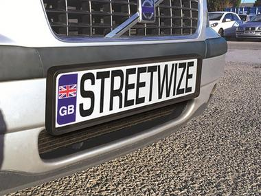 Streetwize SWNPP Car Van Rubber Number Plate Surround Single Thumbnail 1