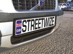 Streetwize SWNPP Car Van Rubber Number Plate Surround Single