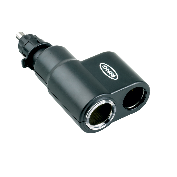 Ring Automotive RMS1 12V 120W 10A In Car Cigarette Twin Socket Adaptor Single