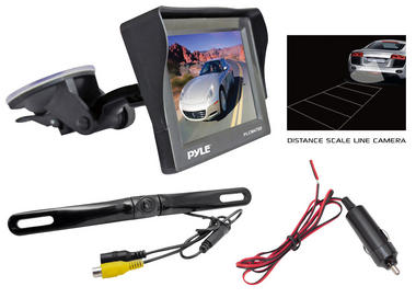 "Pyle PLCM4700 4.7"" Window Mount Monitor Rear View Reversing Camera Set Thumbnail 2"
