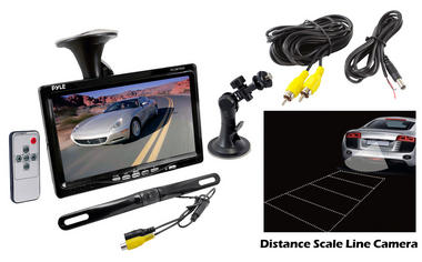 "Pyle 7"" WindScreen Suction Mount Monitor Rear View Reversing Reverse Camera Set Thumbnail 2"