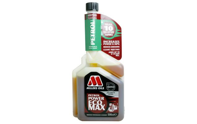 Millers Oils MIL6205KB Automotive 500ml Petrol Fuel Power Eco Max Fuel Additive