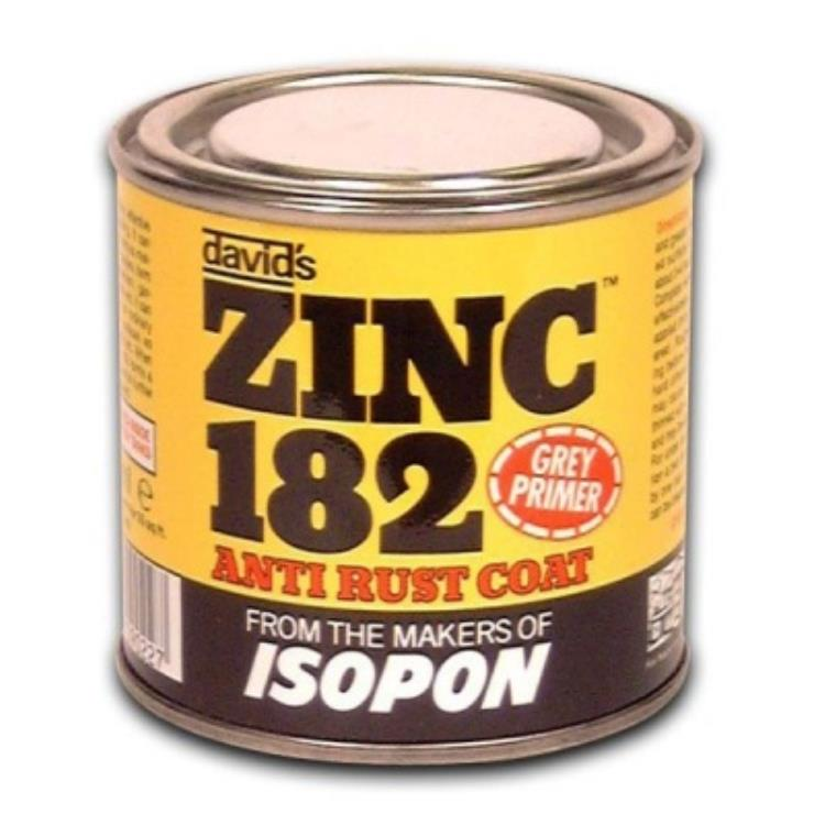 Isopon UPOZ182/S Rust Inhibiting Grey Primer Zinc 182 250ml Tin
