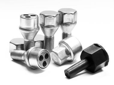 Trilock AHG M12 x 1.5 x 23 17mm 60° Locking Wheel Bolt For Vauxhall Fiat Thumbnail 1