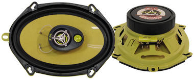 "Pyle Gear X Yellow 5x7"" Coaxial 3 Way Pair Of Car Door Speakers 480w Ford Mazda Thumbnail 2"