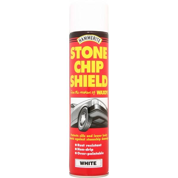 Hammerite 5092834 Stone Chip Shield White 250ml Single