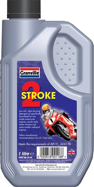 Granville 0118A 2 Stroke Automovite Motoring Motorcycle Engine Oil 1 Litre