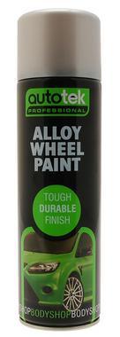 Autotek AT000ALW500 Automotive Quick Drying Alloy Wheel Spray Aerosol Paint 500ml Thumbnail 1