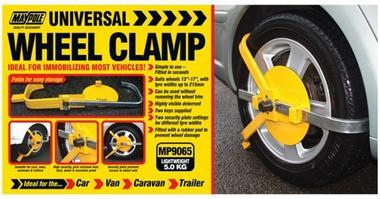 "Maypole 9065 Universal Adjustable Wheel Clamp 13-17"" Inch Single Thumbnail 1"
