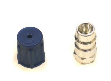 R12 to R134a Air Con Regas Gas Recharge Adaptor Screw On Fitting With Dust Cap Thumbnail 1