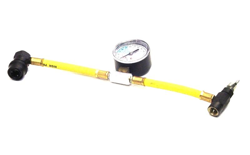 Car Aircon Air Con Conditioning Recharge Gas Regas DIY Tool Hose Pipe With Gauge