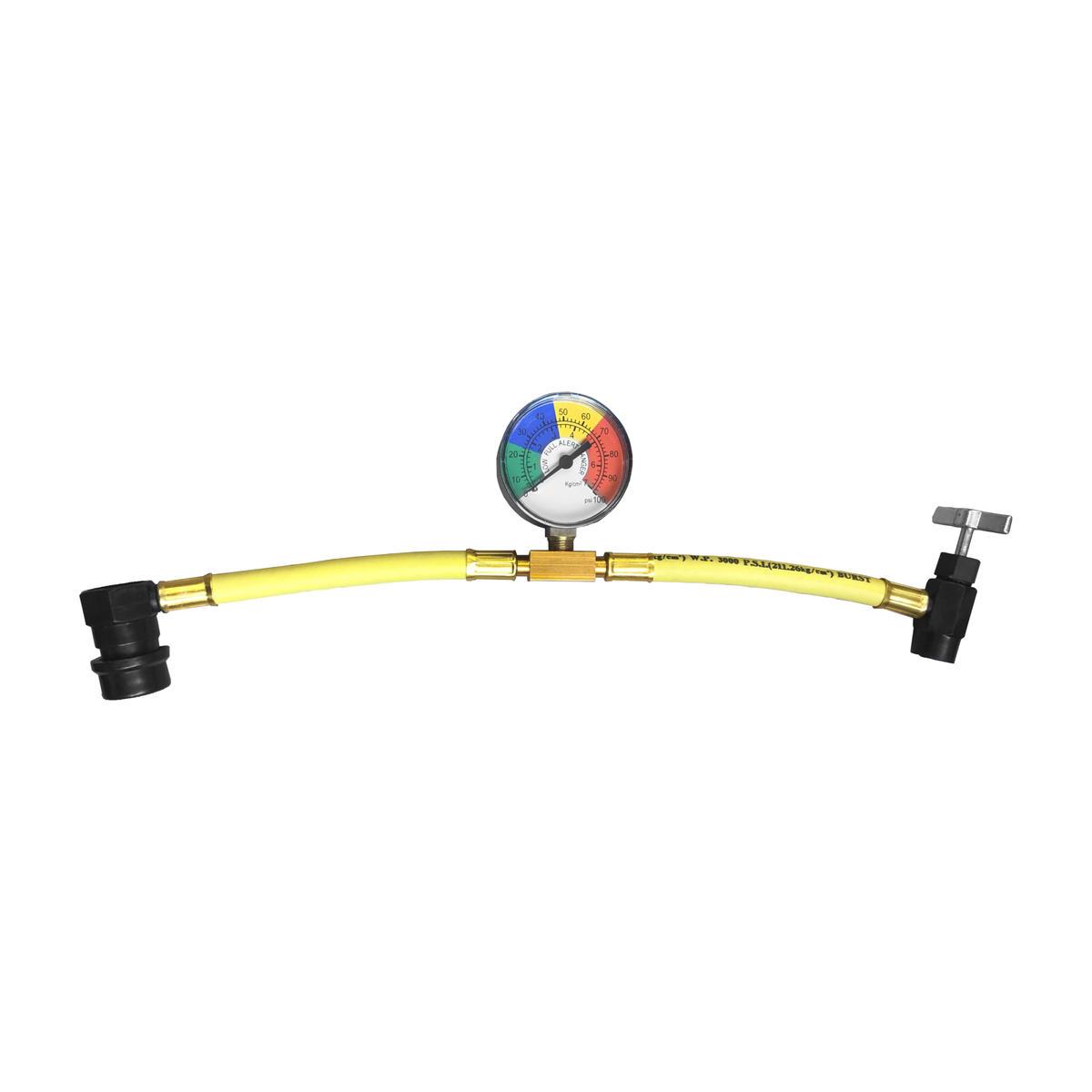 Car AC Aircon Air Con Conditioning Recharge Gas Regas DIY Tool Hose Pipe + Gauge