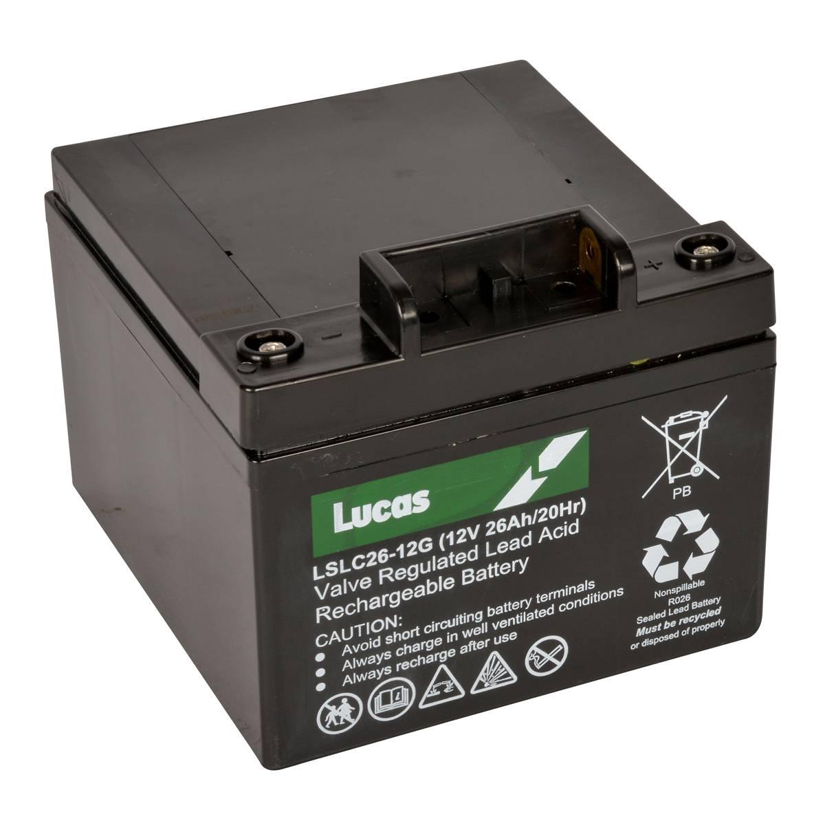 Lucas Golf LSLC26-12G 12v 26Ah 18 Hole AMG Golf Sports Caddy Battery