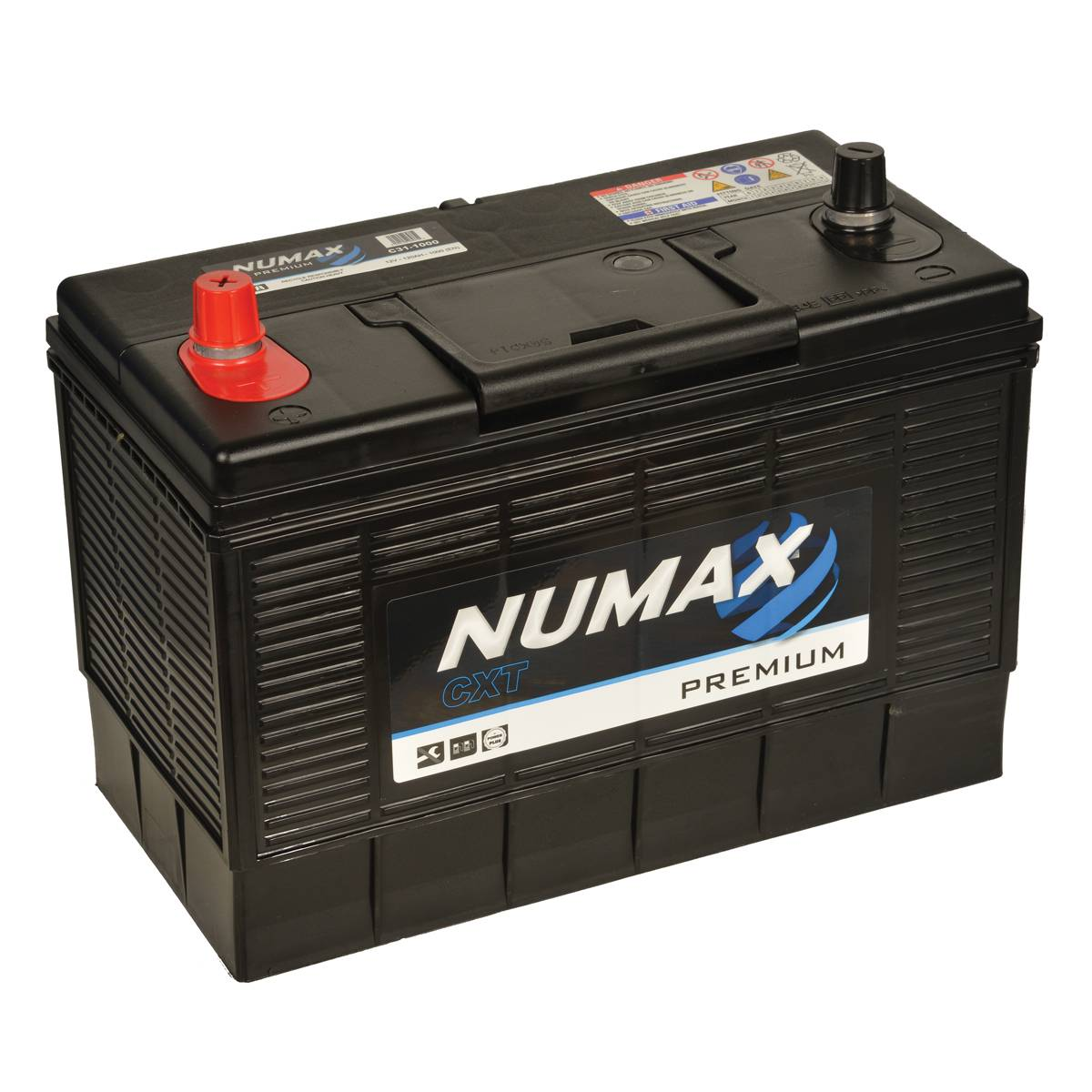 Numax C31-1000 12 Volt 105 Ah 920 CCA 3 Year Warranty Premium U.S. Size Car Van Battery