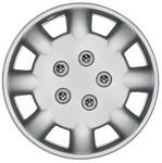 "Polus 13"" Car Wheel Trims Hub Caps Plastic Covers Set of 4 Silver Universal"