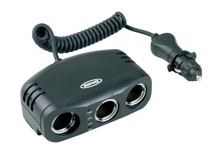 Ring RMS3 12V In Car Cigarette Triple Multisocket With Battery Analyser Single