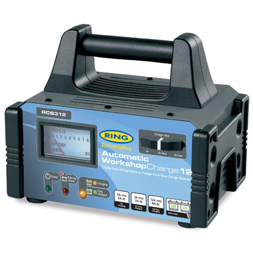 Ring Automotive RCB312 12V 230V AC Car Van Fully Automatic Battery Charger Single