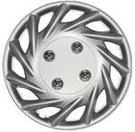 "Vegas 15"" Car Wheel Trims Hub Caps Plastic Covers Set of 4 Silver Universal"