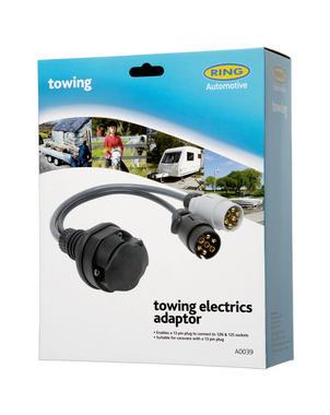 Ring A0039 12V Trailer Towing 12N 12S Sockets To 13 Pin Plug Adaptor Single Thumbnail 2