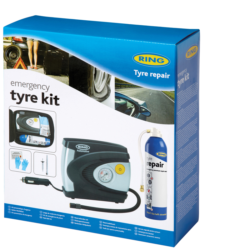 Ring Automotive RTK1 12V 85W Car Van Emergency Tyre Kit Single
