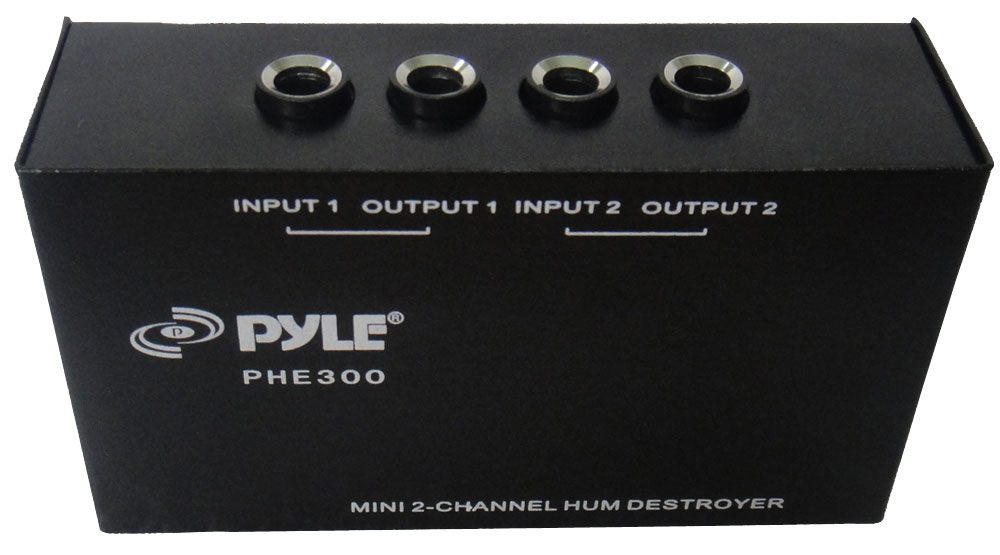 PYLE-PRO PHE300 2-Channel Hum/Noise Destroyer with TRS Inputs and Outputs