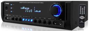 Pyle PT390AU 300W Stereo 4 Channel Home Audio Amplifier With USB MP3 Input AUX Thumbnail 2