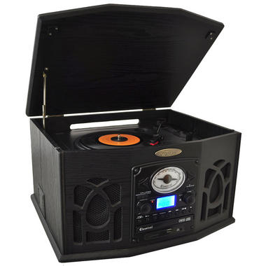 PyleHome PTCDS7UIB Retro Vintage Turntable System with Built In Speaker Thumbnail 2