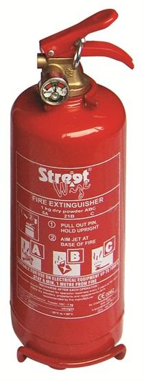 Streetwize SWFE1G Automotive Car Van 1Kg Abc Fire Extinguisher Single