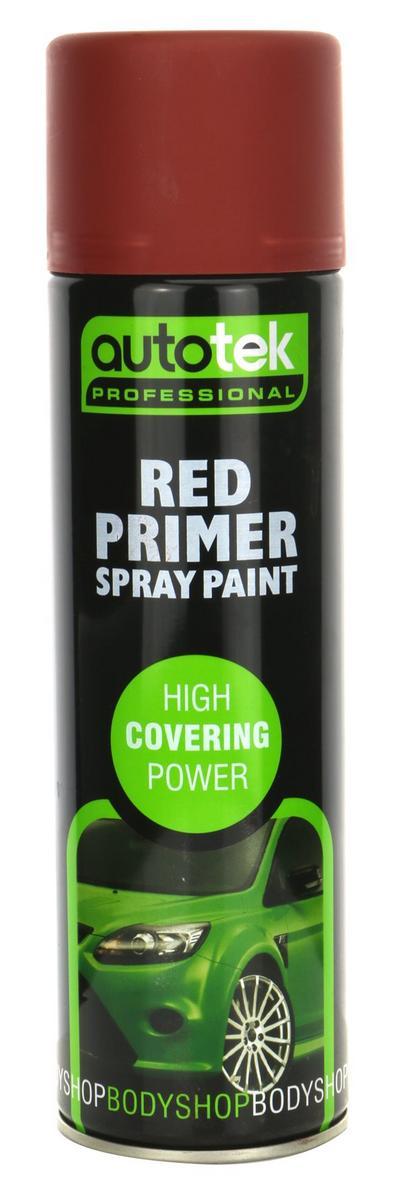 Autotek ATOOPRR500 Automotive Quick Drying Red Primer Spray Aerosol Paint 500ml