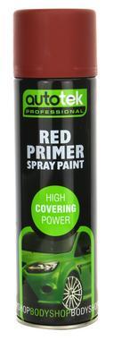 Autotek AT000PRR500 Automotive Quick Drying Red Primer Spray Aerosol Paint 500ml Thumbnail 1