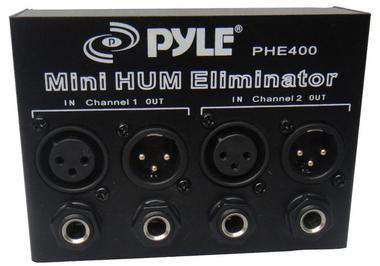 Pyle-Pro PHE400 Hum Noise Eliminator Destroyer 2-Channel Box with XLR Jacks Thumbnail 2