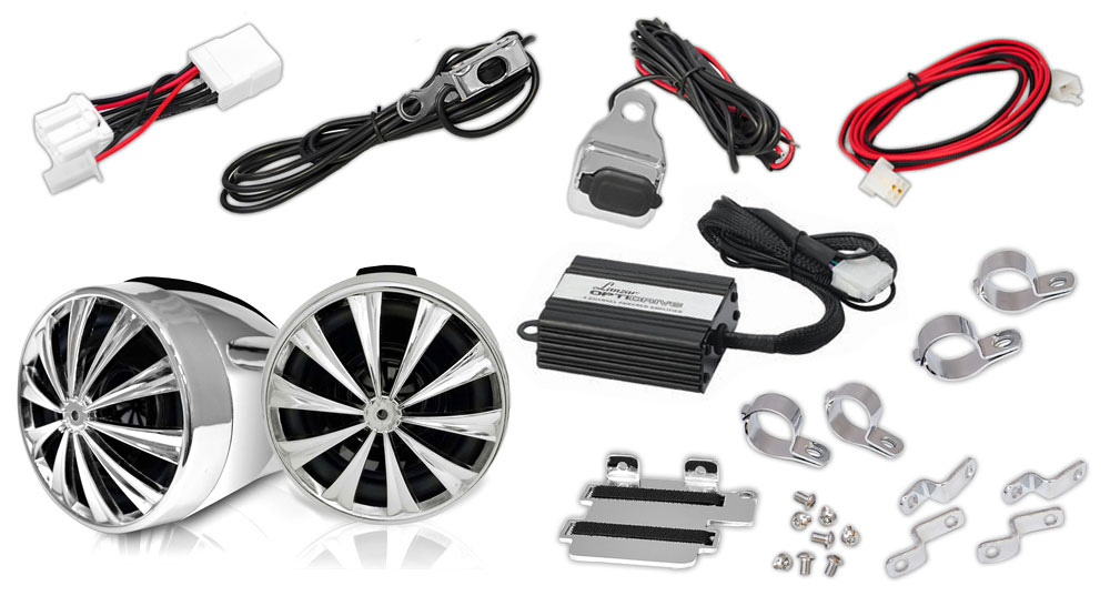 Lanzar OPTIMC91BT Bluetooth Motorcycle Speaker Kit