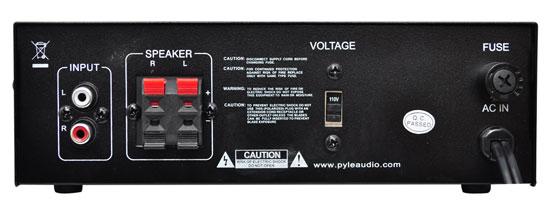 PCAU46A 2 x 120 Watt Stereo Mini Power Amplifier USB//SD AUX Player /& Remote